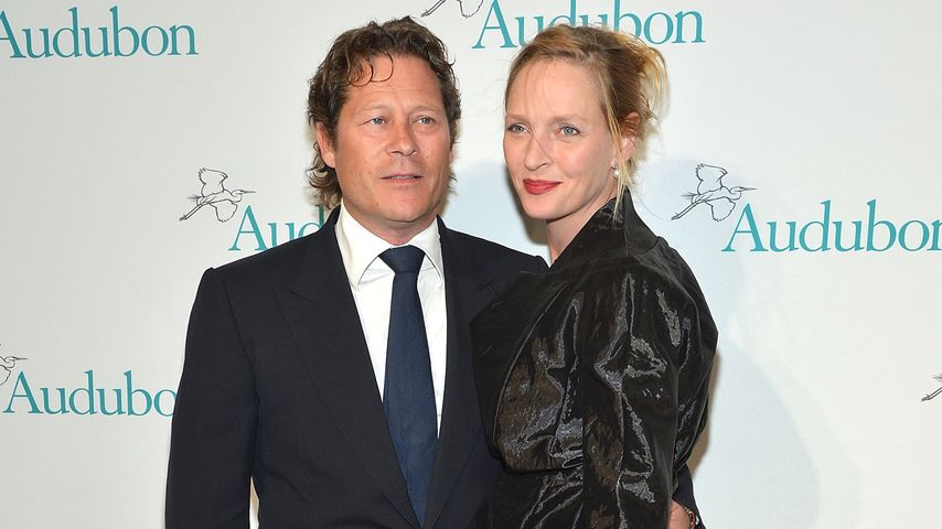 Arpad Busson und Uma Thurman National Audubon beim Society Gala-Dinner 2013 in NYC