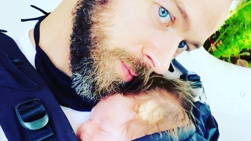 Artem Chigvintsev und Baby Matteo im September 2020