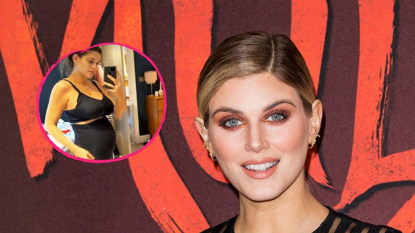 Collage: TV-Star Ashley James präsentiert ihren After-Baby-Body