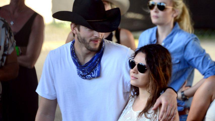 Ashton Kutcher & Mila: 2015 kommt Baby Nummer 2!