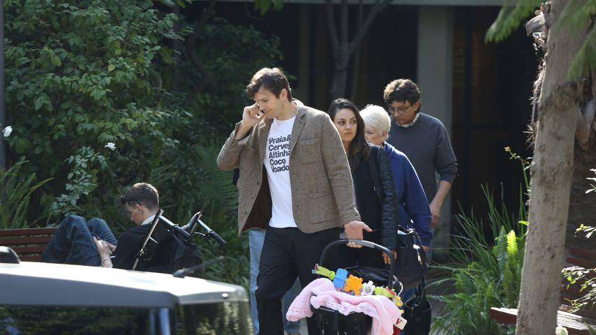 Mila Kunis, Ashton Kutcher und Wyatt Isabelle Kutcher