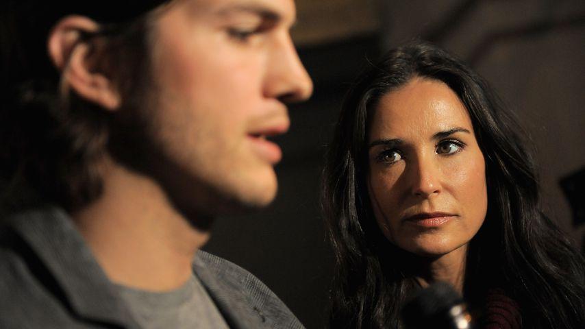 Ashton Kutcher und Demi Moore in New York City