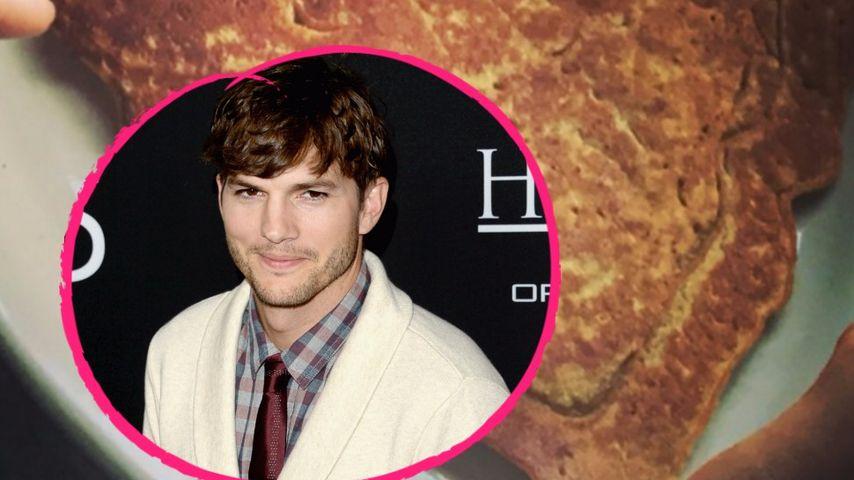 Valentins-Leckerei: Ashton Kutcher bekommt Herz-Pancake