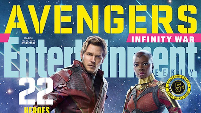 """Avengers: Infinity War""-E!-Cover: Star-Lord and Okoye"