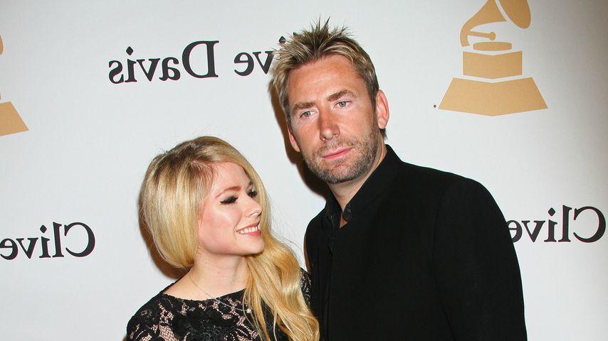 Avril Lavigne und Chad Kroeger bei einer Pre-Grammy Gala 2016