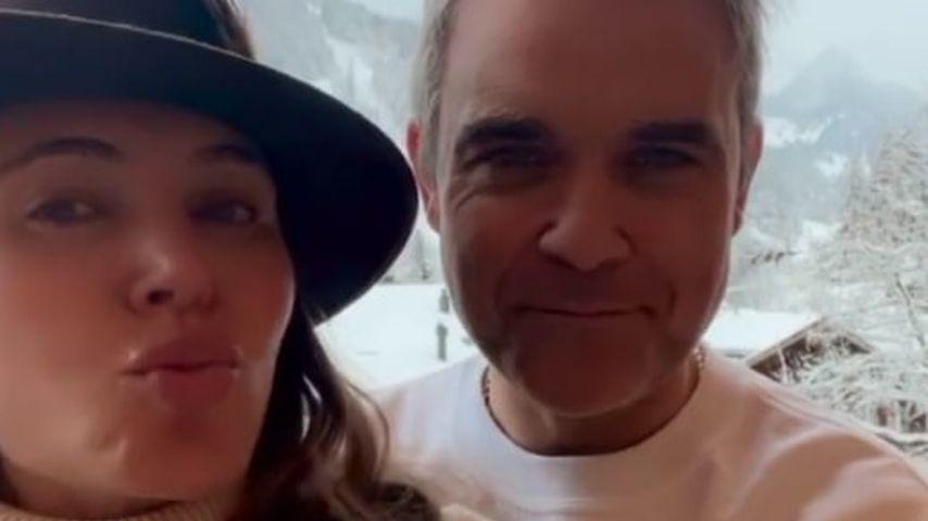 Ayda Field mit ihrem Ehemann Robbie Williams
