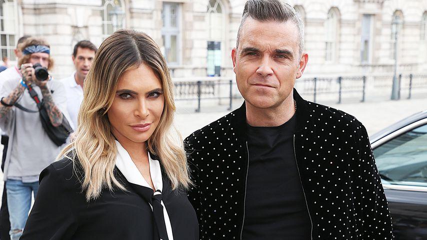 """Ayda Field und Robbie Williams beim """"X Factor""""-Pressetermin in London"""