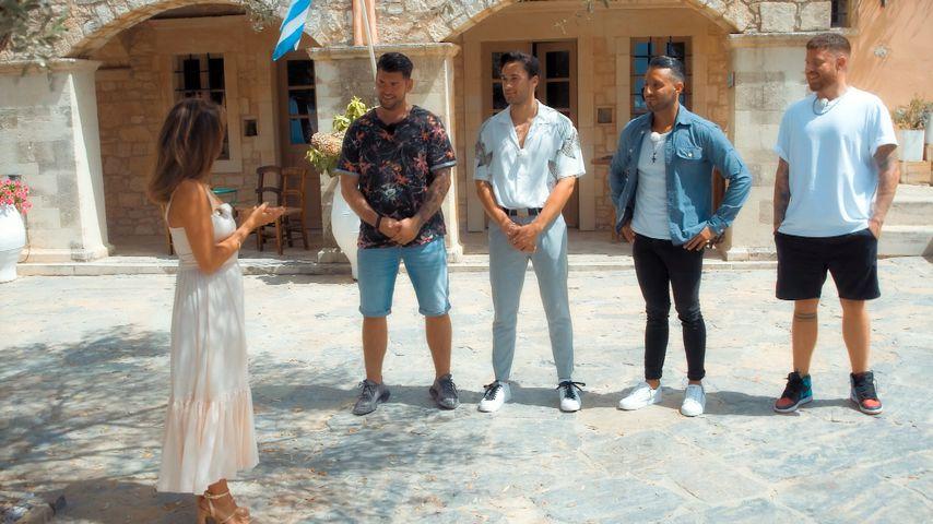Bachelorette Melissa bei einem Gruppendate mit Ioannis, Leander, Saverio und Angelo