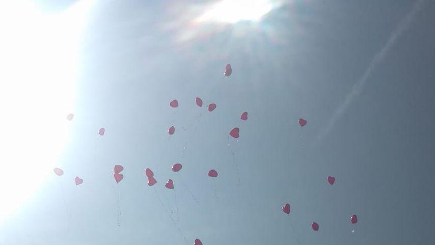 Ballons bei Theresia Fischers Hochzeit, Mai 2019