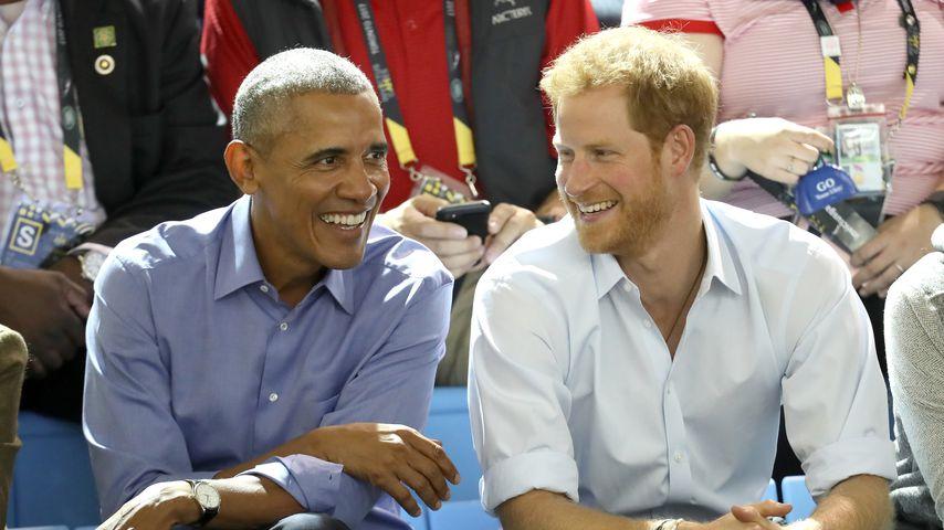 Barack Obama und Prinz Harry bei den Invictus Games 2017