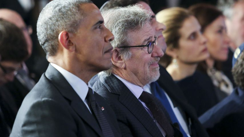 Barack Obama und Steven Spielberg in Washington DC. 2016