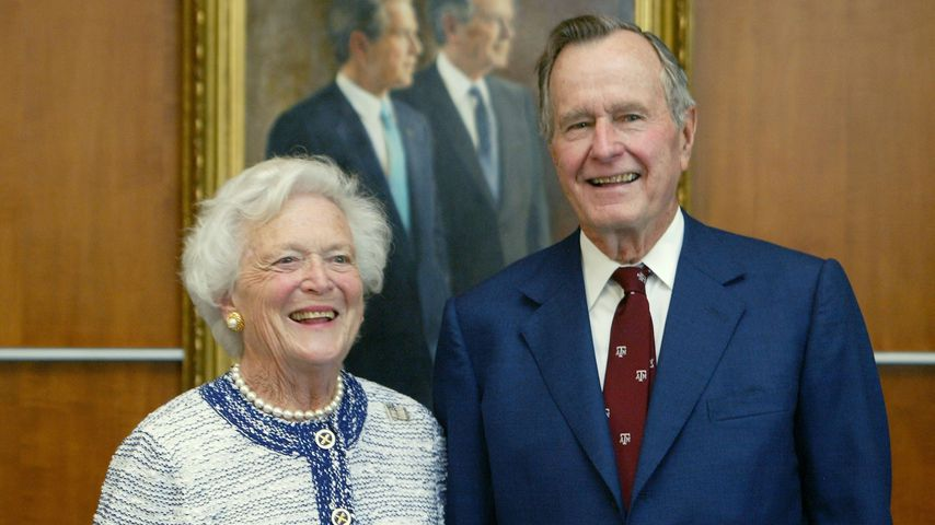 Barbara und George H.W. Bush in Texas