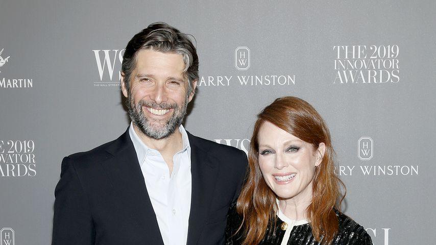 Bart Freundlich und Julianne Moore im November 2019 in New York City
