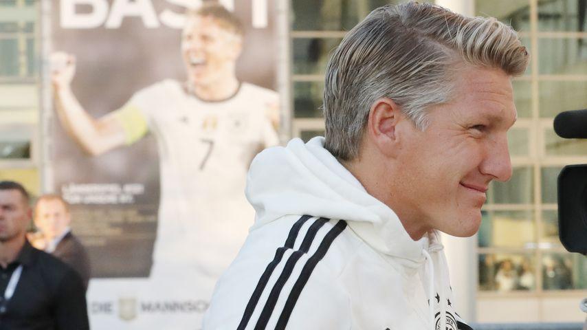 Bastian Schweinsteiger kurz vor seinem Abschiedsspiel gegen Finnland