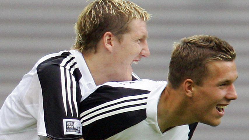 Bastian Schweinsteiger und Lukas Podolski 2005
