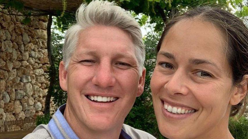 Bastian Schweinsteiger und seine Frau Ana Ivanović im Juli 2021