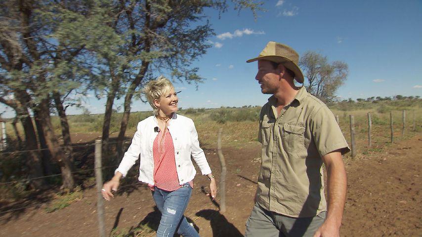 """""""Bauer sucht Frau""""-Moderatorin Inka Bause und Farmer Gerald aus Namibia"""