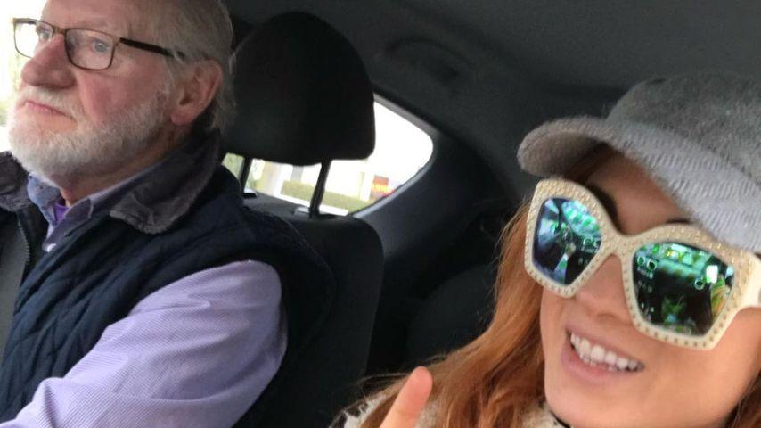 Wrestling-Star Becky Lynch mit ihrem Vater