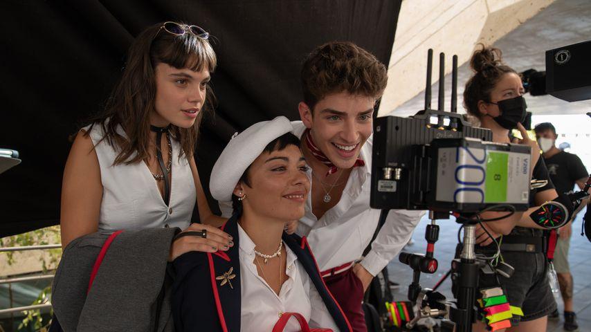 """Behind-the-Scenes-Aufnahme von """"Élite"""""""