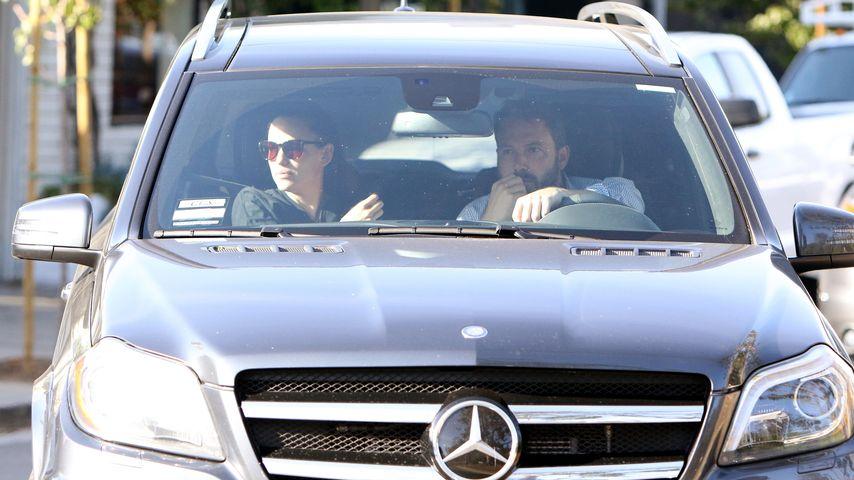 Ben Affleck und Jennifer Garner im Auto mit Sohn Samuel