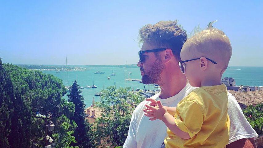 Ben Heinrich mit Sohn Mats