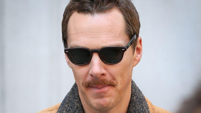 Huch? Benedict Cumberbatch trägt jetzt einen Schnurrbart!