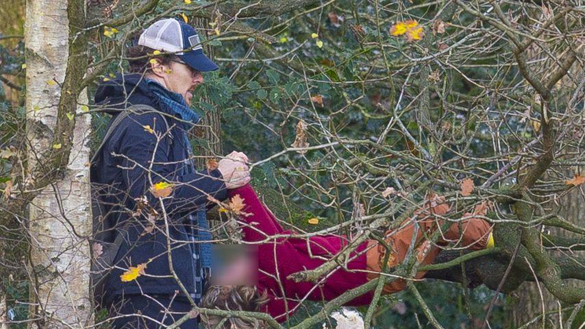Benedict Cumberbatch und sein Sohn, 2020