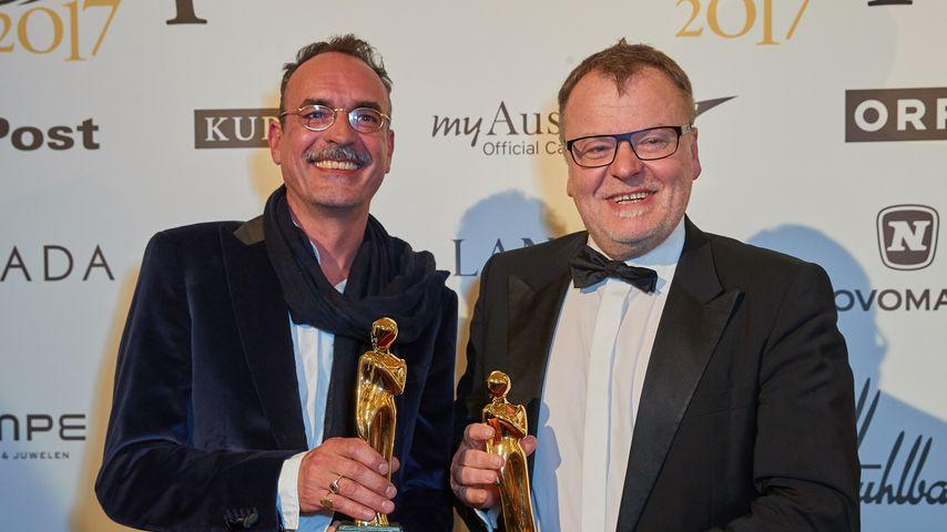 Benedict Neuenfels und Stefan Ruzowitzky 2017 in Wien