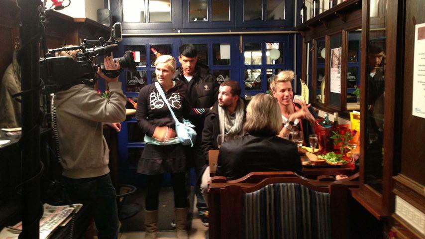 Benny Hartmann und Florian Wess bei Dreharbeiten
