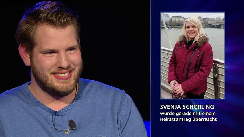 Heiratsantrag bei Wer wird Millionär: Benjamin und Svenja bei Günther Jauch