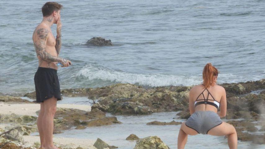 Benjamin Mascolo und Bella Thorne am Strand von Mexiko 2021