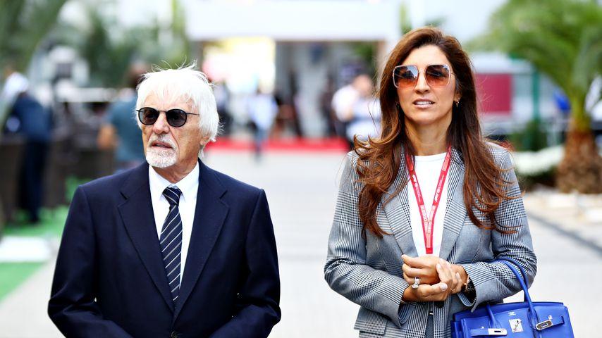 Bernie Ecclestone und Fabiana Flosi im September 2019