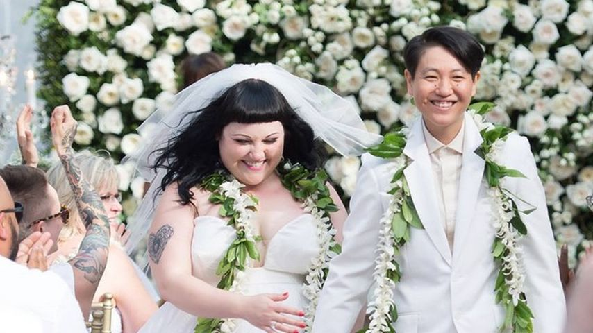Beth Ditto und Kristin Ogata während ihrer Hochzeit