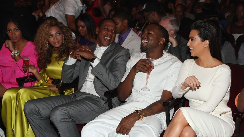 Beyoncé, Jay-Z, Kanye West und Kim Kardashian 2012 in Los Angeles