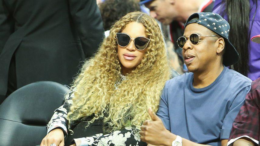 Beyoncé und Jay-Z bei einem Basketballspiel