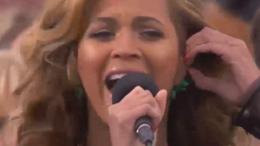 Sang Beyoncé bei der Nationalhymne etwa Playback?