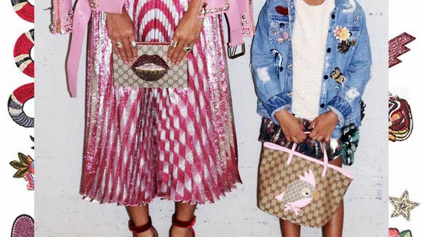 Beyonce und Blue Ivy posieren mit ihren Handtaschen