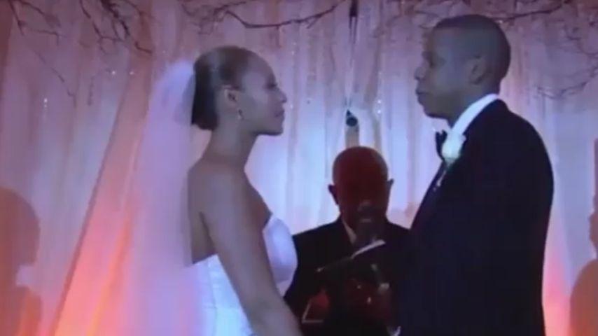 Zum 7. Hochzeitstag! Clip zeigt Heirat von Beyoncé & Jay-Z
