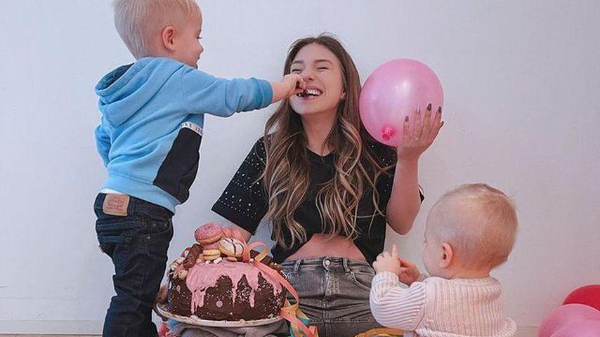 Bibi Claßen mit ihren Kindern