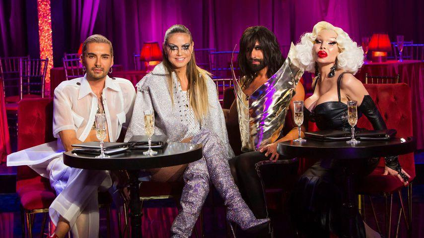 """Bill Kaulitz, Heidi Klum, Conchita Wurst und Amanda Lepore bei """"Queen of Drags"""""""