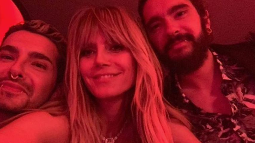 Bill Kaulitz, Heidi Klum und Tom Kaulitz im April 2019