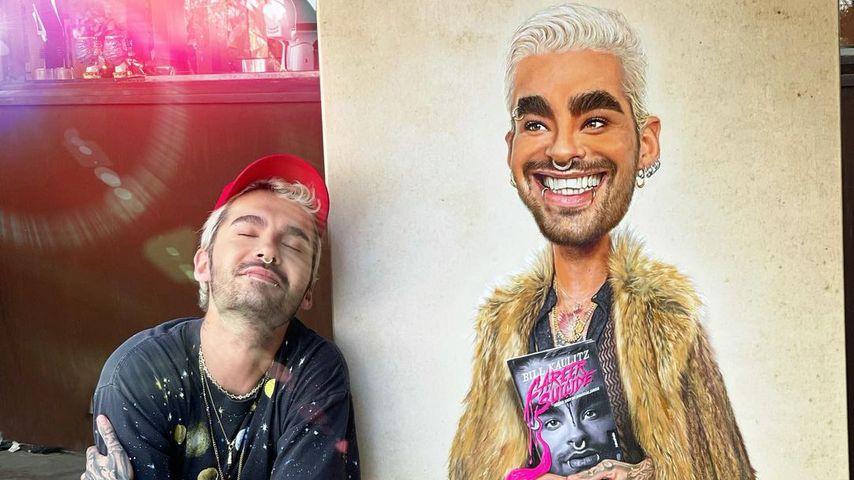 Bill Kaulitz mit seinem Porträt