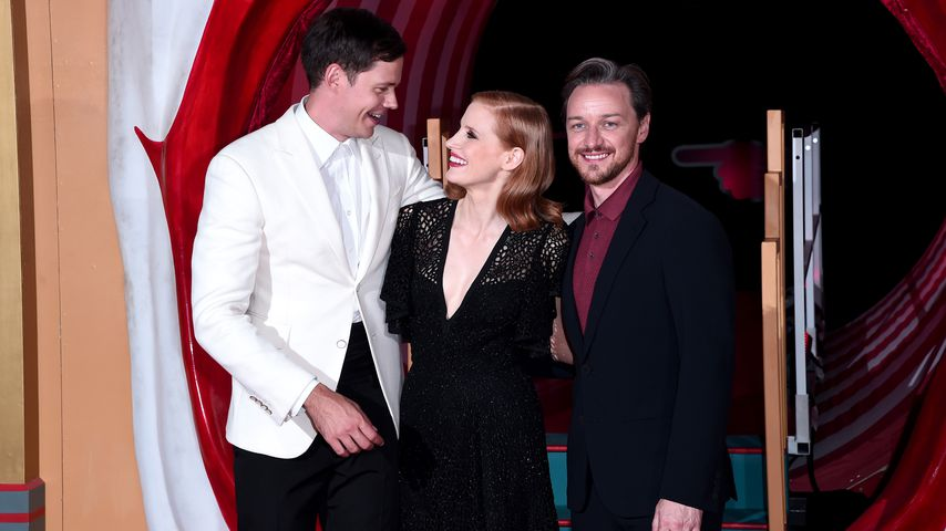 Bill Skarsgård, Jessica Chastain und James McAvoy