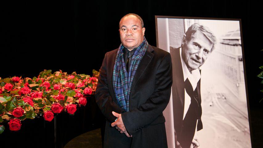 Udo Jürgens' Chauffeur Billy Todzo auf der Trauerfeier des Musikers 2015