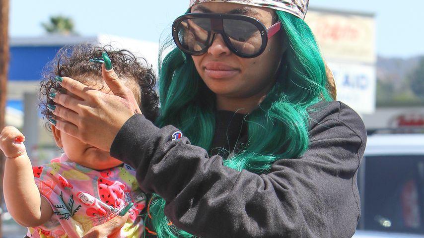 Blac Chyna mit ihrer Tochter Dream in Los Angeles