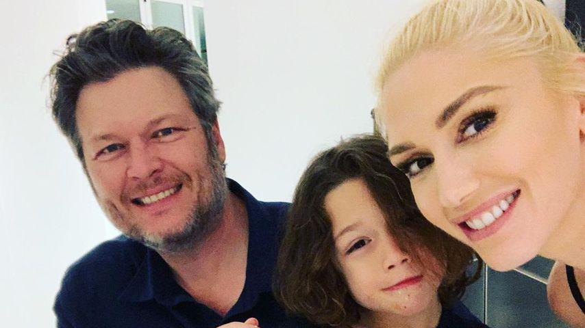 Blake Shelton, Apollo und Gwen Stefani im März 2020