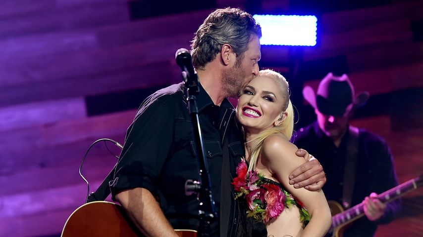 Blake Shelton und Gwen Stefani auf einem Konzert in Kalifornien