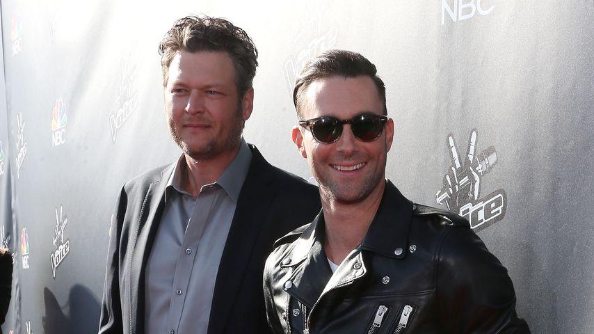 Musiker Blake Shelton und Adam Levine