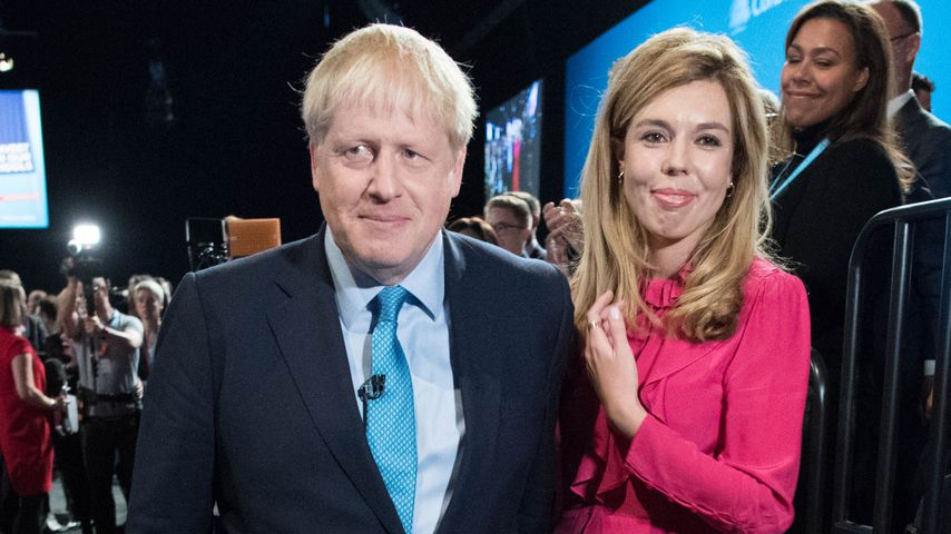 Boris Johnson und seine Verlobte Carrie Symonds, Oktober 2019