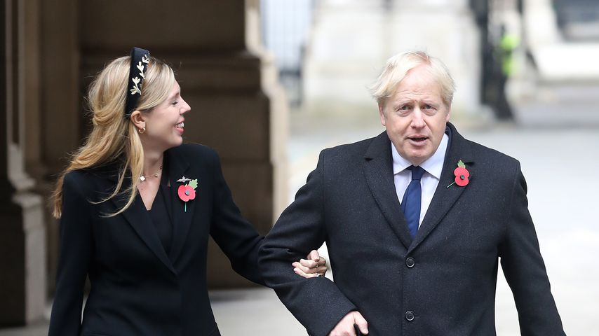 Boris Johnson und Carrie Symonds zum National Service of Remembrance 2020